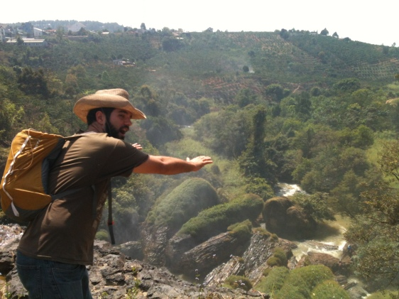 At the Elephant Waterfall in Da Lat, Vietnam